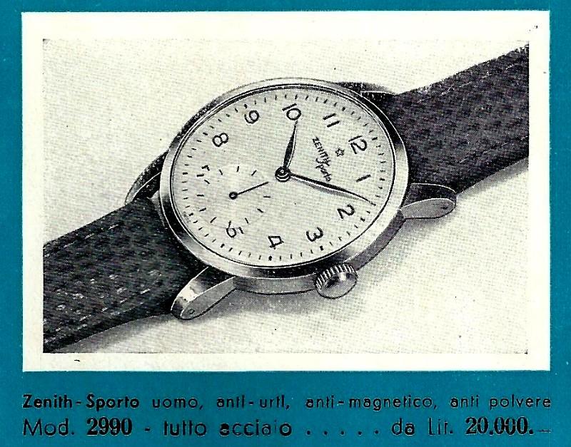 Zenith Sporto. Stara reklama - katalog 1953 r.