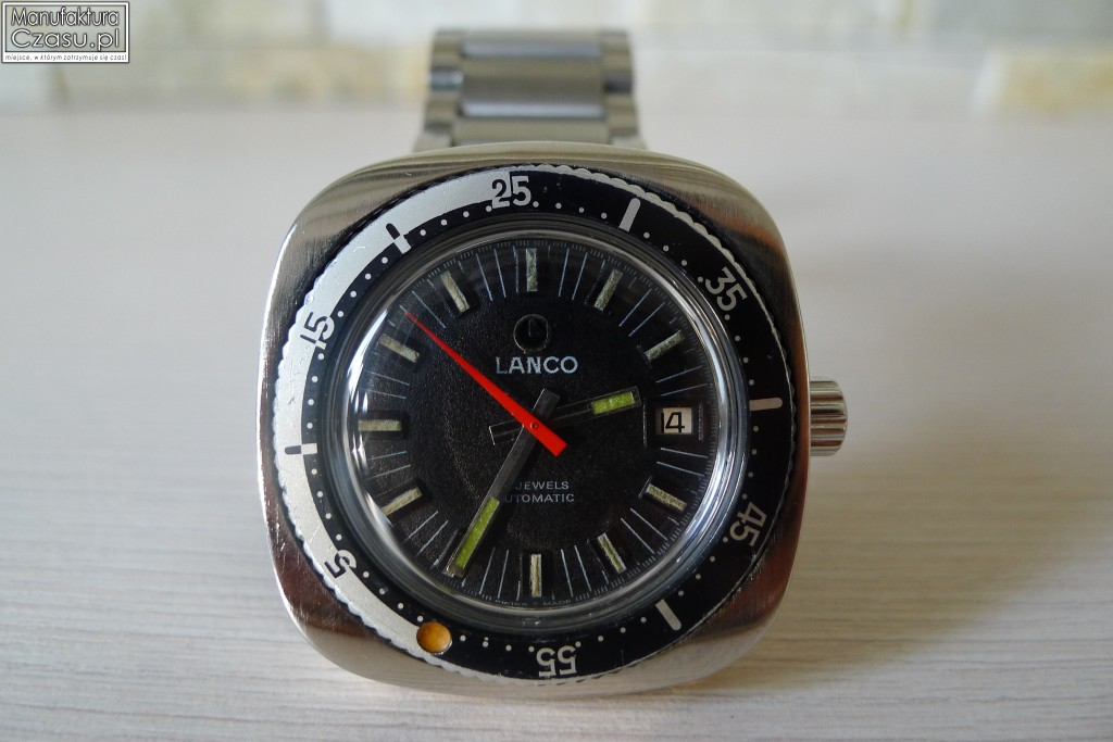 Lanco Nurek Automatic 21 Jewels - obrotowy bezel