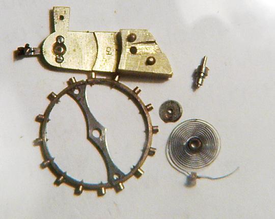 Elementy balansu zegarka kieszonkowego - zdjęcie poglądowe
