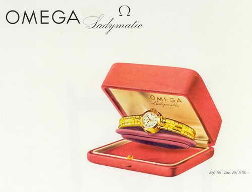 Stara reklama Omega Ladymatic z lat 50' - zdjęcie poglądowe