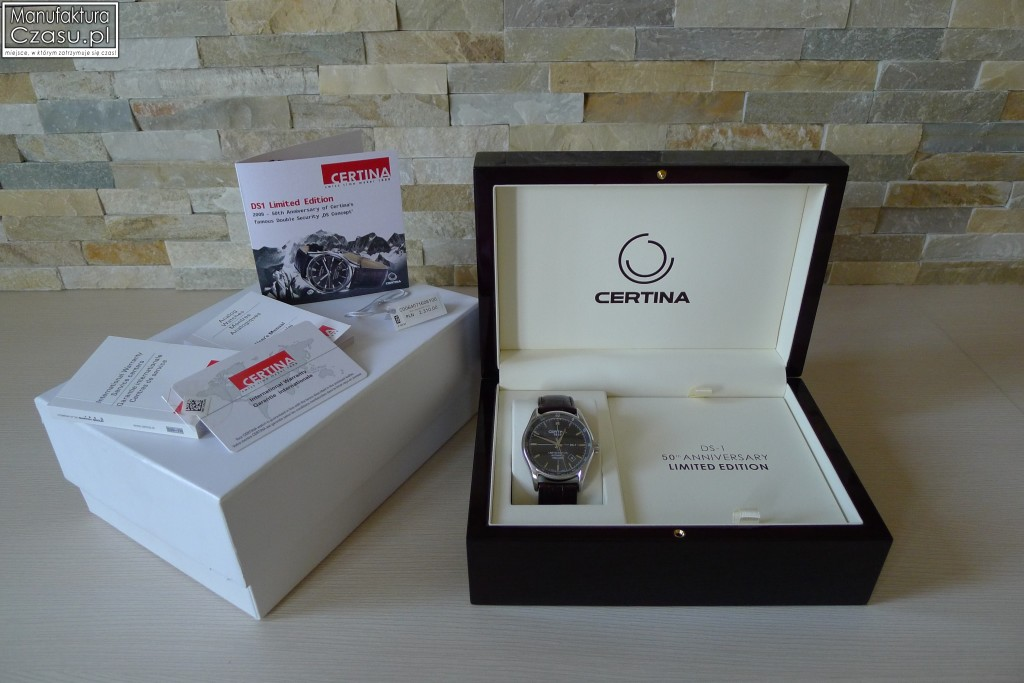 Certina DS-1 Limited Edition - Pudełko i dokumenty