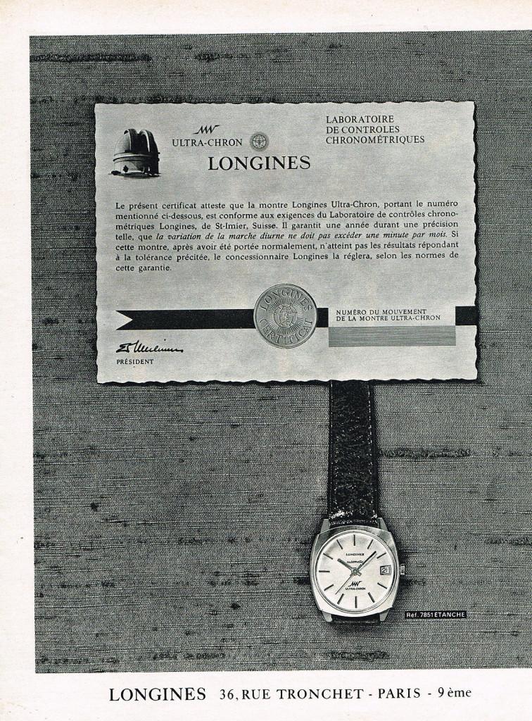 Reklama Longines U-C 2