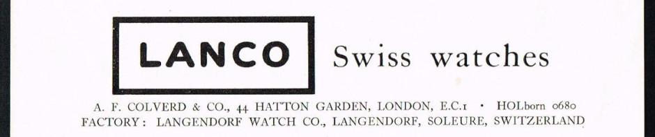 LANCO (Langendorf Watch Company) – historia firmy