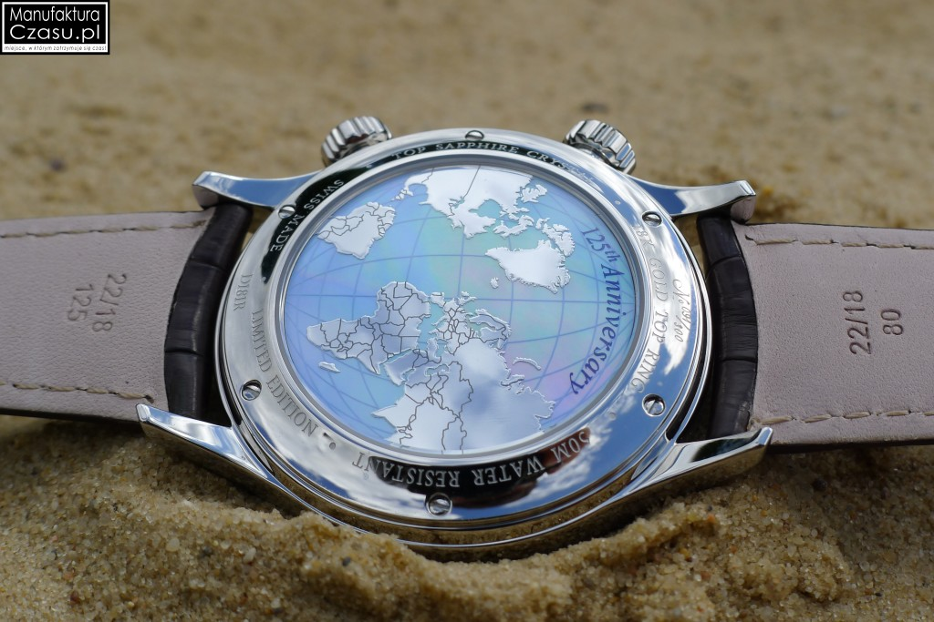 DOXA Blue Planet GMT Limited Edition - dekiel z mapą świata