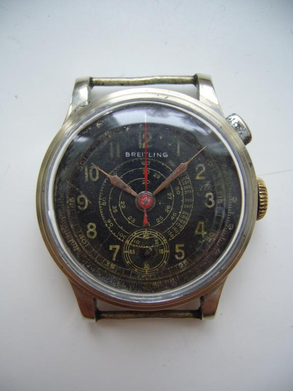 Breitling z pojedynczą koronką do obsługi chronografu