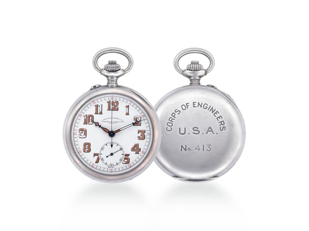 Zegarek kieszonkowy wyposażony w stoper