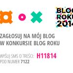 Konkurs BLOG ROKU 2014 – 24 miejsce na 392 blogi !