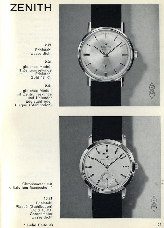 Strona z katalogu Zenith - 1964 r.