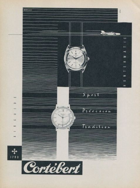 Cortebert Huntermatic - reklama 1959 r.
