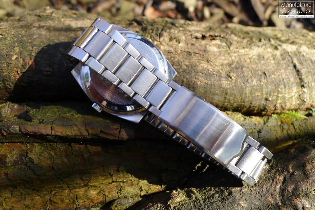 Stalowy Glashutte SPEZIMATIC - bransoleta