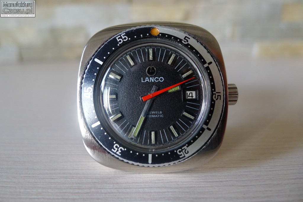 Lanco Nurek Automatic 21 Jewels - obrotowy bezel