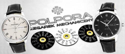 Współczesne zegarki z polskim kalendazem - dyski kalendarza