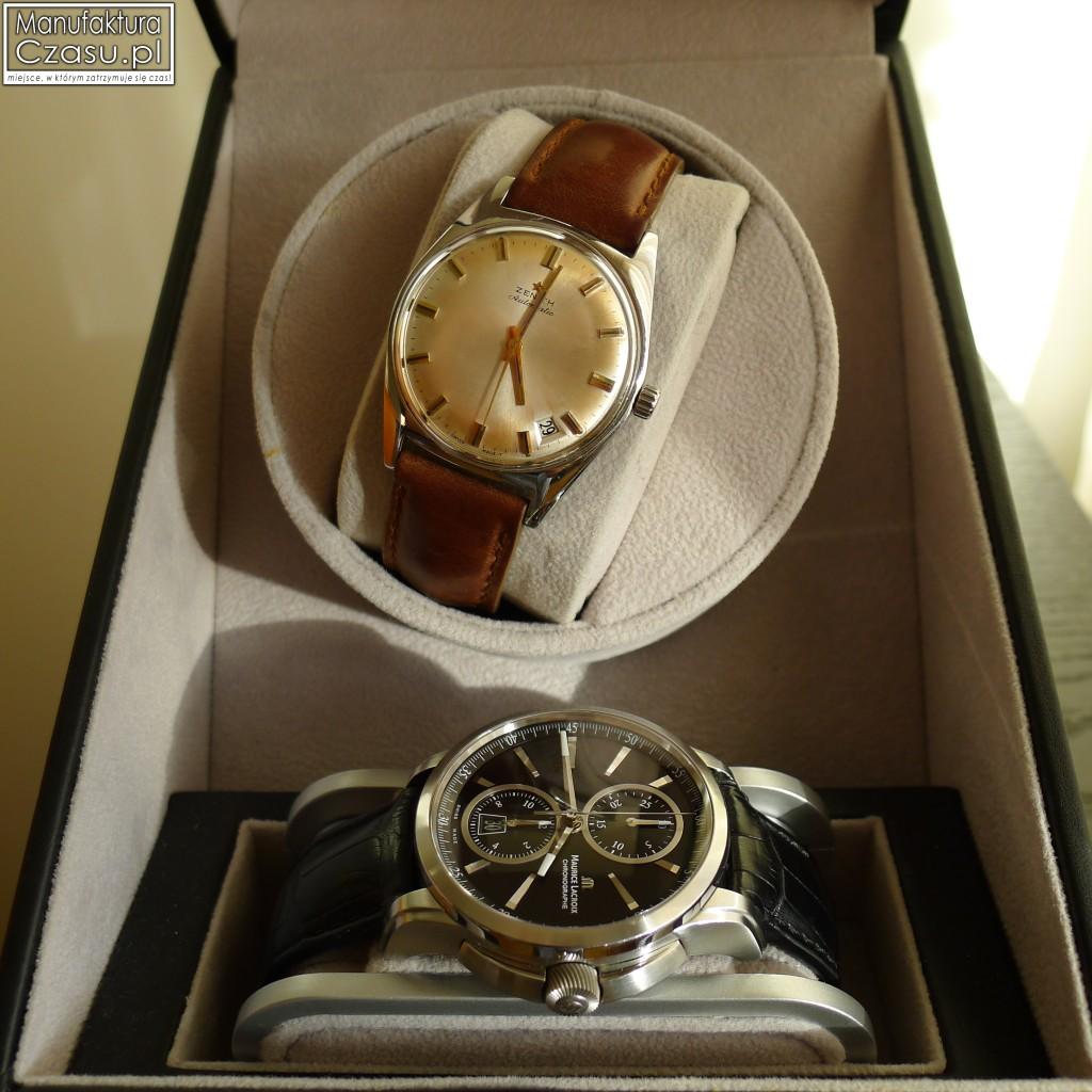 Otwarty rotomat jednostanowiskowy ze schowiek na dodatkowy zegarek