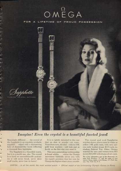 Stara reklama Omega - zegarki damskie - zdjęcie poglądowe