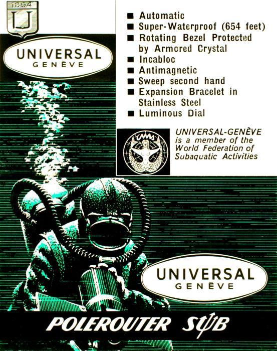 Stara reklama Universal Geneve -zdjęcie poglądowe
