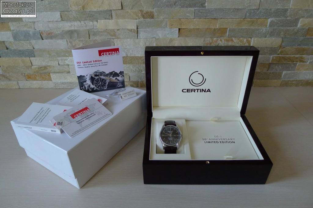 Certina DS-1 Limited Edition - Pudełko i dokumenty
