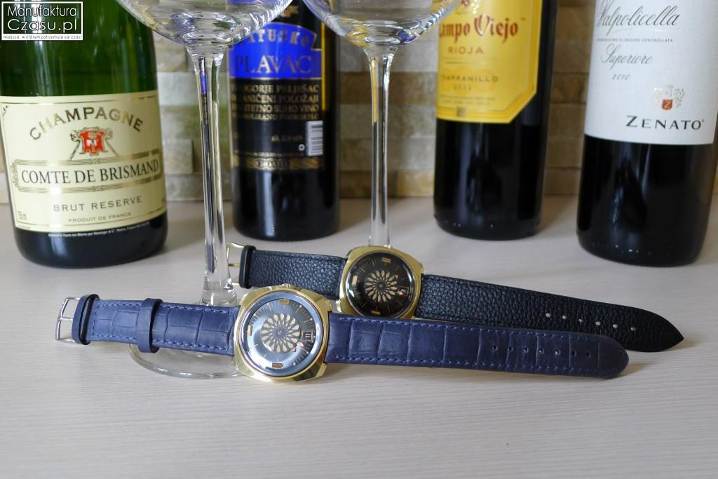 Ernest Borel Cocktail Watch - Czarny i Błękitny
