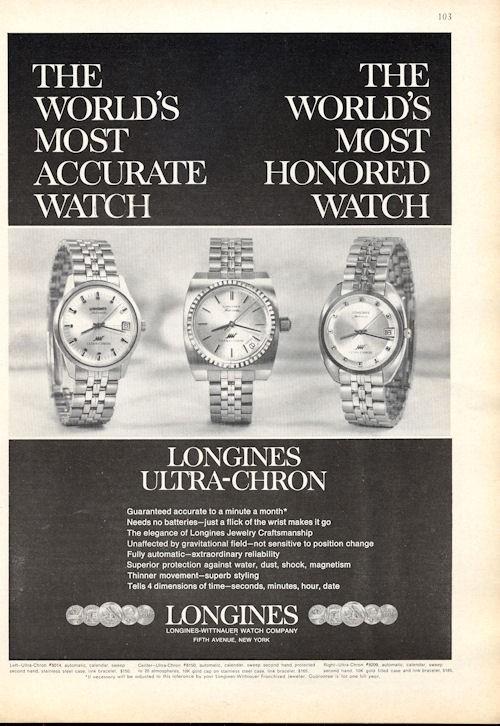 Reklama Longines U-C 5