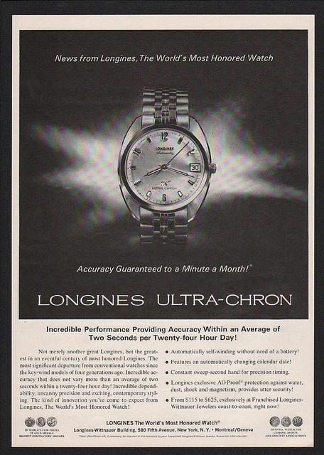 Reklama Longines U-C 6