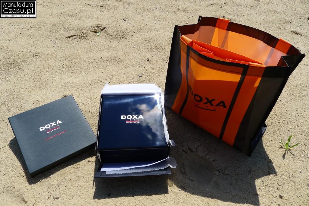 DOXA Blue Planet GMT Limited Edition - pudełko + torebki